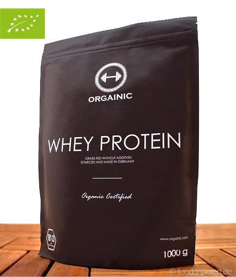 Bio Whey Protein Natural (Bio Eiweißpulver ohne Zusatzstoffe), 1000g, Orgainic