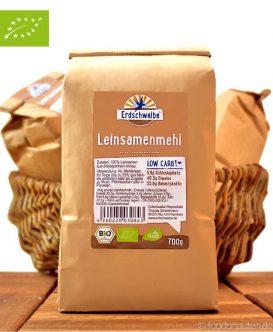 Bio Leinsamenmehl, entölt (Low Carb Mehlersatz), Erdschwalbe, 700g