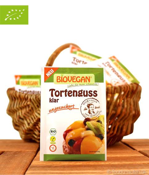 Bio Tortenguss, Klar, Ungezuckert (Mit Agar Agar), BioVegan, 6g