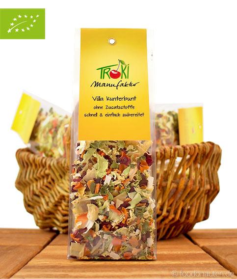 Bio Suppe, Villa Kunterbunt (Ohne Zusatzstoffe, schonend luftgetrocknetes Gemüse), Troki Manufaktur, 50g