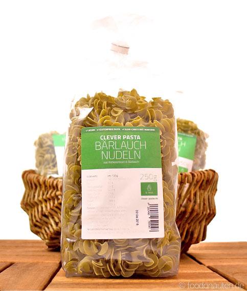 Clever Pasta, Bärlauch-Nudeln (Glutenfreie Kichererbsen-Nudeln mit Bärlauch), 250g