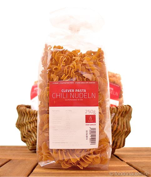 Clever Pasta, Chili-Nudeln (Eiweißreiche Kichererbsen-Nudeln mit Chili), 250g