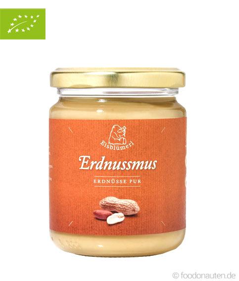 Bio Erdnussmus (100 Prozent Erdnüsse), 500g, Eisblümerl