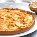 Low Carb Apfel-Tarte mit Aprikosenmarmelade