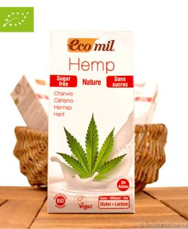 Bio Hanfmilch (Milchersatz), Laktosefrei, ohne Zucker, 1L, EcoMil