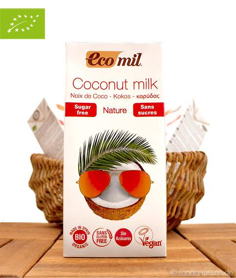 Bio Kokosmilch (Milchersatz auf Kokosbasis) Laktosefrei, Ohne Zuckerzusatz, 1L, EcoMil