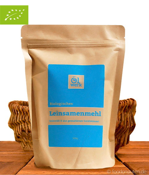 Bio Leinsamenmehl, Teilentölt aus Goldleinsaat, Hersteller: Ölwerk, 500g
