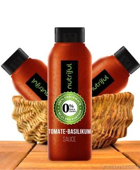 Nutriful Tomate-Basilikum Sauce (0%-Sauce), Low Carb, 265ml