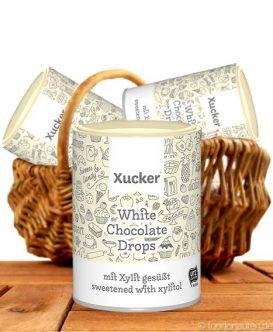 Xucker - Weiße Schokodrops ohne Zuckerzusatz mit Xylit gesüßt, 200g