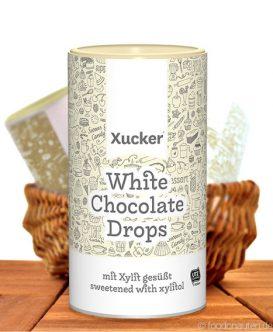 Xucker - White Chocolate Drops (Weiß Schokodrops mit Xylit), 750g