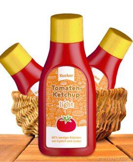 Xucker - Tomatenketchup Light, mit Erythrit gesüßt, 500ml