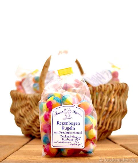 Zuckerfreie Bonbons Regenbogen Kugeln, Kramer's Spezialitäten, 120g