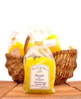 Zuckerfreie Bonbons Zitrone mit Zitronenöl, Kramer's Spezialitäten, 120g