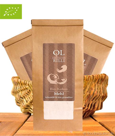 Bio Kokosmehl, Teilentölt & Kalt Vermahlen, 500g, Ölmanufaktur Rilli