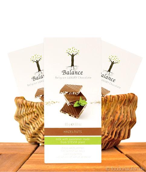 Balance Stevia Schokolade (Haselnuss), mit Stevia gesüßt, 85g