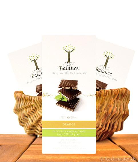 Balance Stevia Schokolade (Orange), mit Stevia gesüßt, 85g