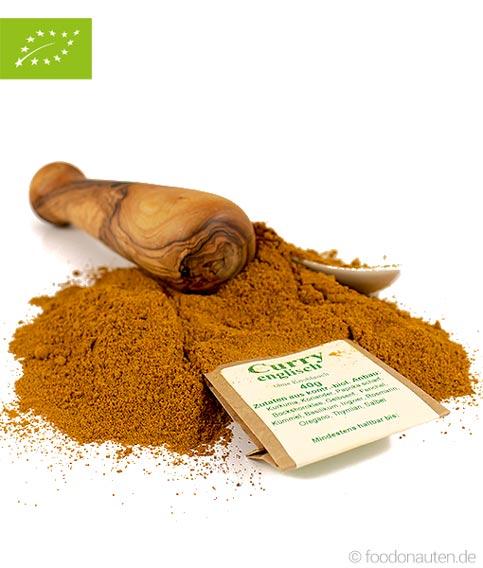 Bio Gewürz, Curry Englisch, kba