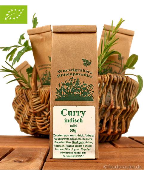 Bio Gewürzmischung Curry Indisch, Wurdies