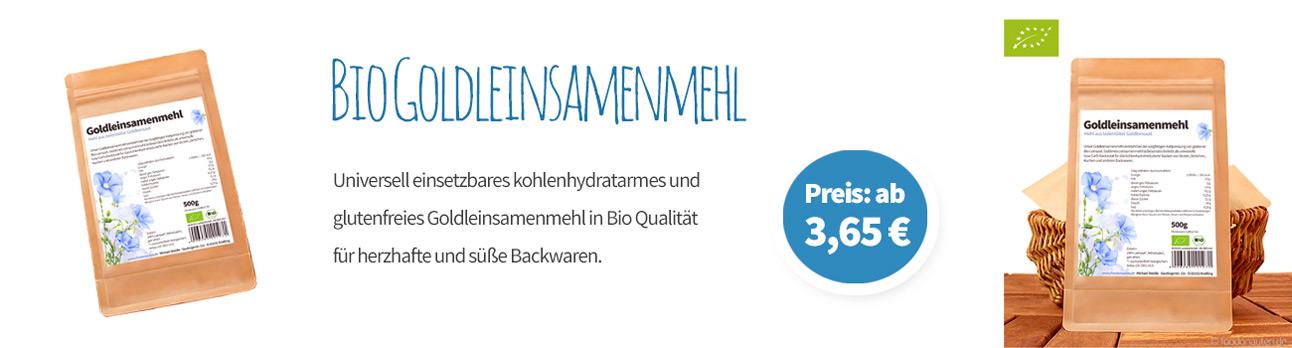Bio Goldleinsamenmehl Banner