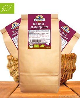 Bio Hanf Protein Pulver, 50 Prozent Proteingehalt, Erdschwalbe, 500g