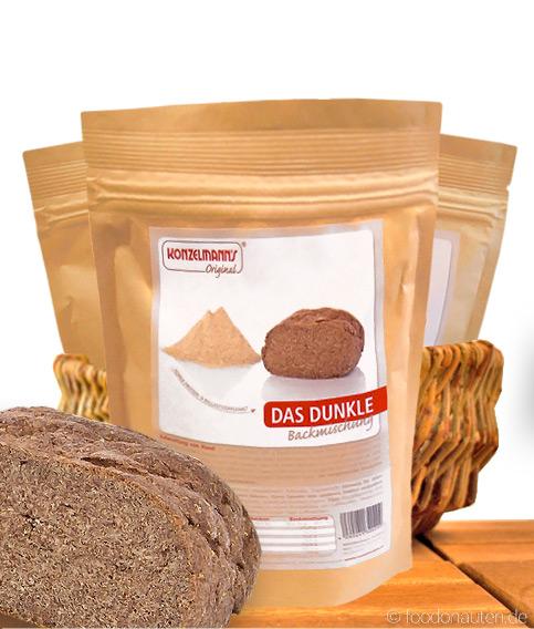 Das Dunkle, Low Carb Brotbackmischung, 370g, Konzelmanns Original