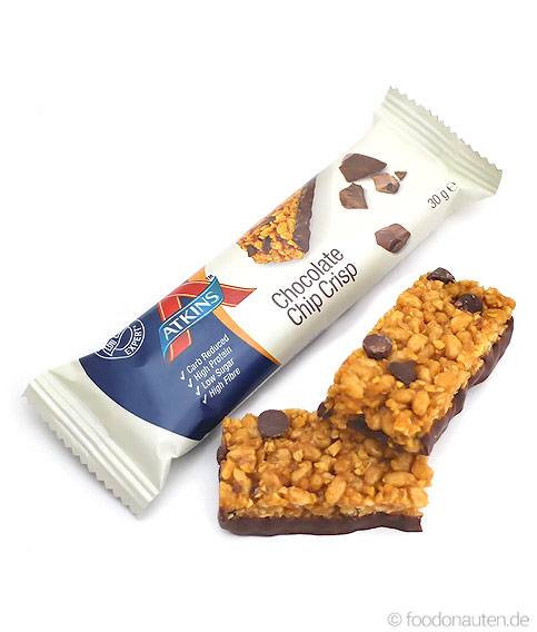 Day Break Bar Chocolate Chip Crisp, Low Carb Müsliriegel, 30g, Atkins