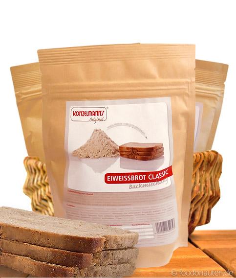 Eiweissbrot Classic, Low Carb Brotbackmischung, 370g, Konzelmanns Original