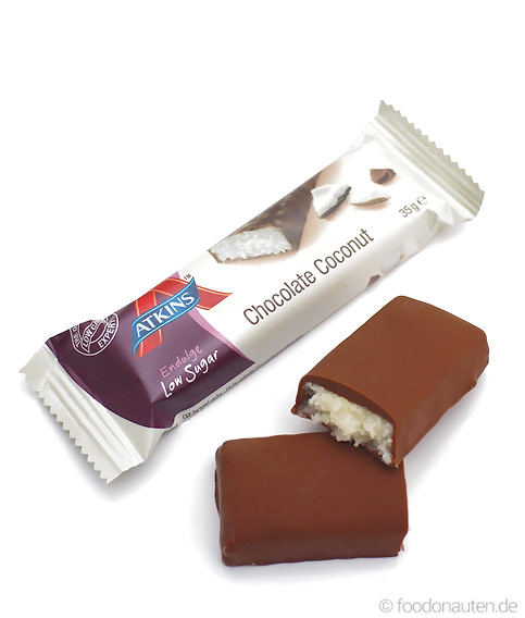 Endulge Bar Chocolate Coconut, Low Carb Schokoriegel, 35g, Atkins
