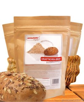 Kraftkornbrot, Low Carb Brotbackmischung, 370g, Konzelmanns Original