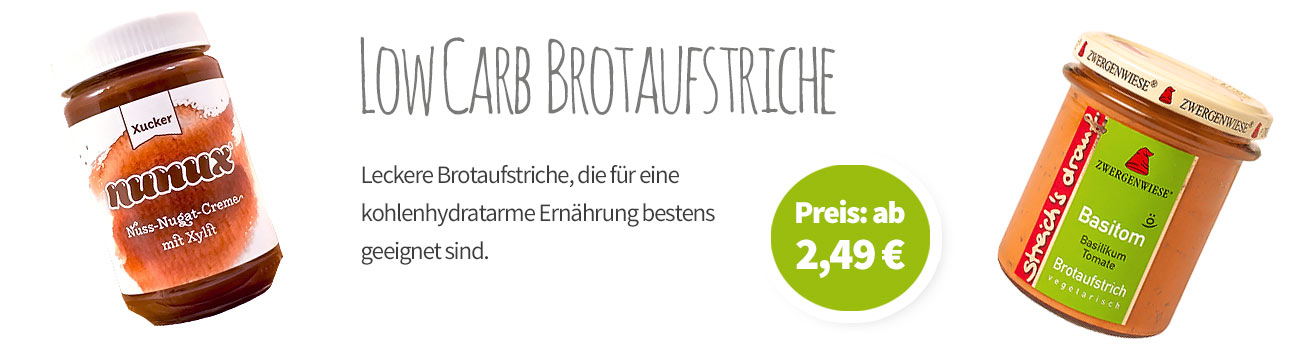 Low Carb Brotaufstriche - Banner