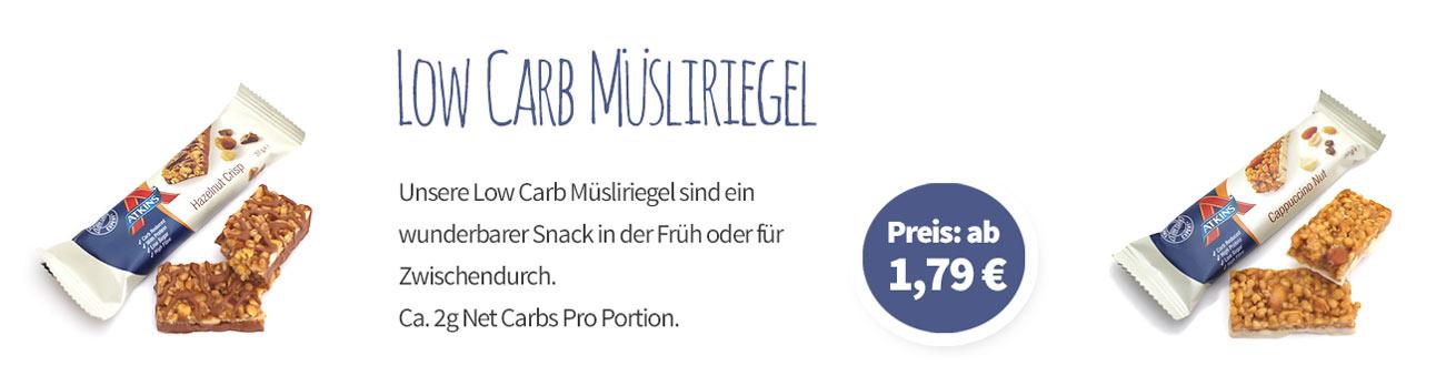Low Carb Müsliriegel - Banner