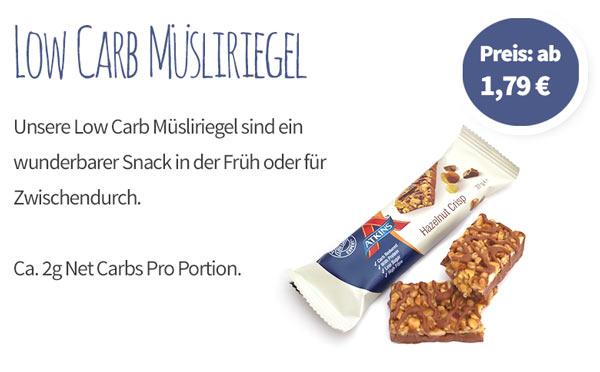 Low Carb Müsliriegel - Banner - Mobile