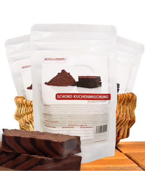 Low Carb Schokoladen-Kuchen, Backmischung, 155g, Konzelmann's Original