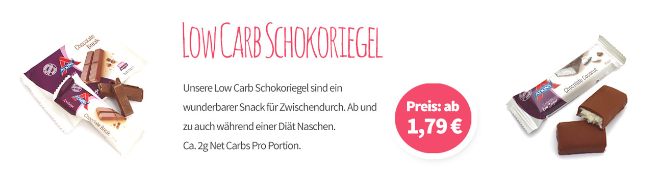Low Carb Schokoriegel Banner