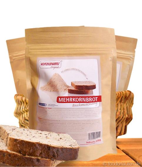 Mehrkornbrot, Low Carb Brotbackmischung, 370g, Konzelmanns Original