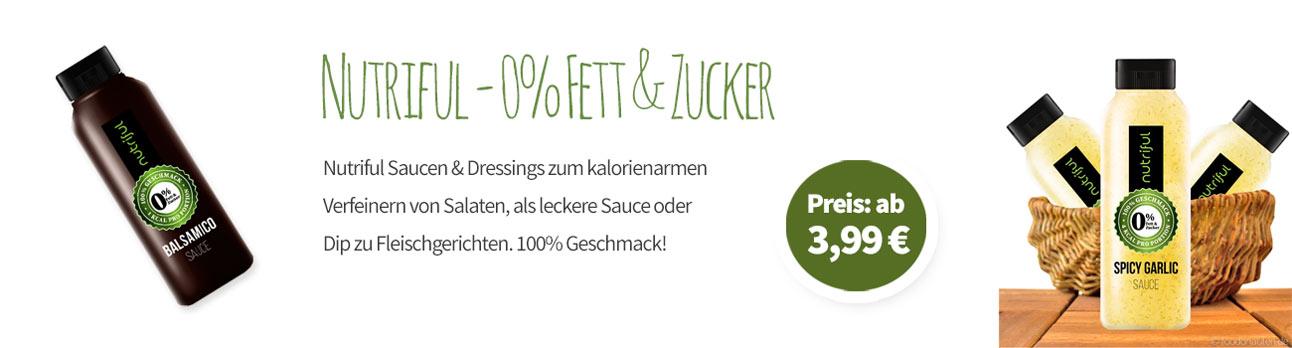 Nutriful Saucen - 0% Zucker & Fett - Banner