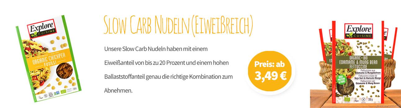 Slow Carb Nudeln (Eiweißreich) Banner