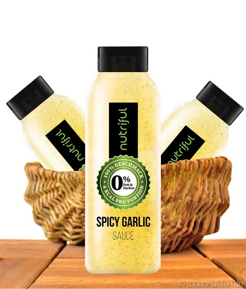Spicy Garlic Sauce, 0% Sauce, Low Carb, 265ml, Nutriful