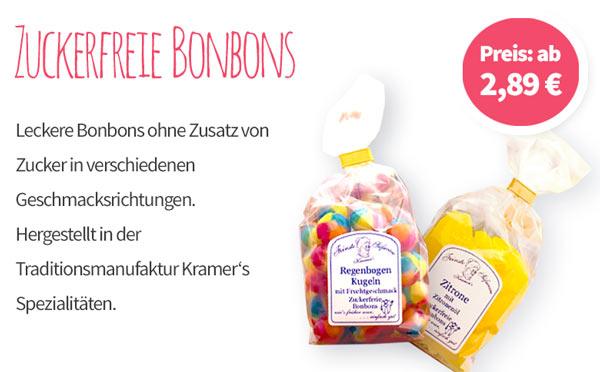 Zuckerfreie Bonbons - Banner - Mobile