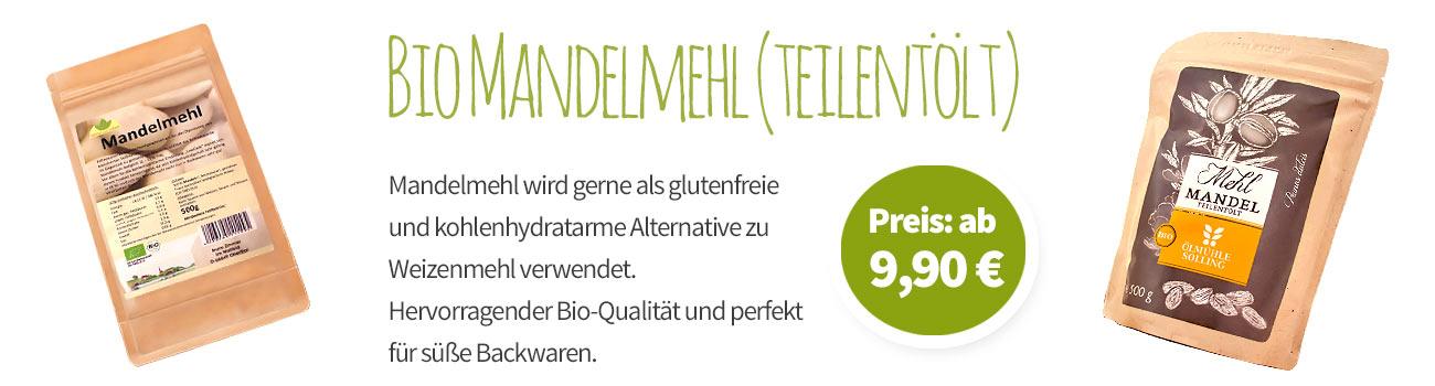 Bio Mandelmehl (teilentölt) - Banner