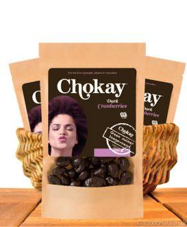 Chokay - Dunkle Schoko Cranberries ohne Zuckerzusatz mit Stevia, 110g