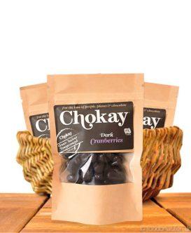 Chokay - Dunkle Schoko Cranberries, Snack Pack, 40g