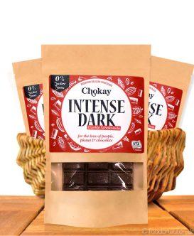 Chokay - Dunkle Schokolade, Intense Dark, Ohne Zuckerzusatz, 100g