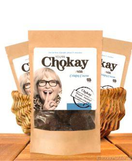 Chokay - Knusprige Schoko Kokosberge ohne Zuckerzusatz, 110g