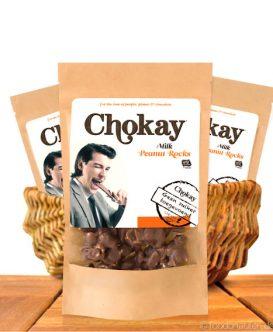 Chokay - Milch Schoko Erdnussberge mit Stevia, 110g