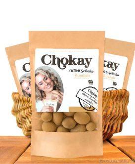 Chokay, Milch-Schoko-Mandeln mit Zimt ohne Zuckerzusatz, 110g
