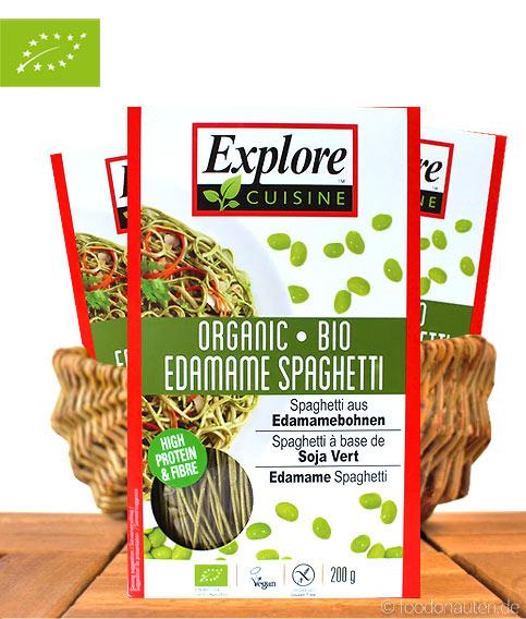 Explore Cuisin - Bio Edamame Spaghetti (grüne Sojabohnen), 250g