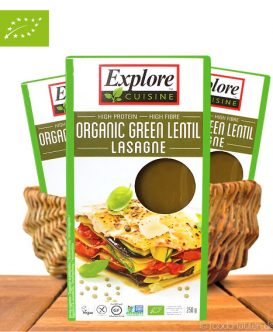 Bio Lasagne Grüne Linsen, 250g, Explore Cuisine