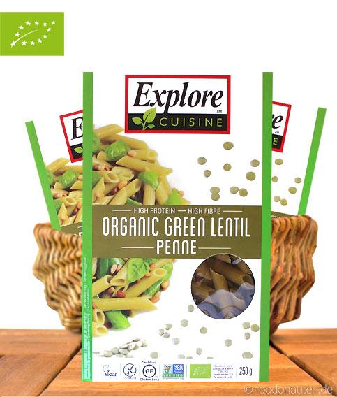 Explore Cuisine - Bio Penne Grüne Linsen, 250g