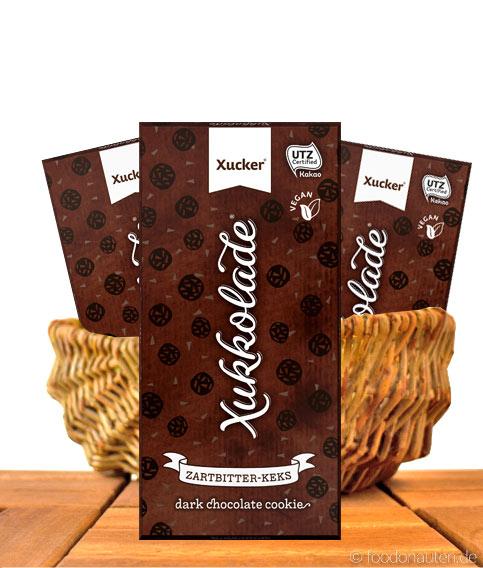Xucker - Zartbitter-Keks-Schokolade, Ohne zuckerzusatz, 100g